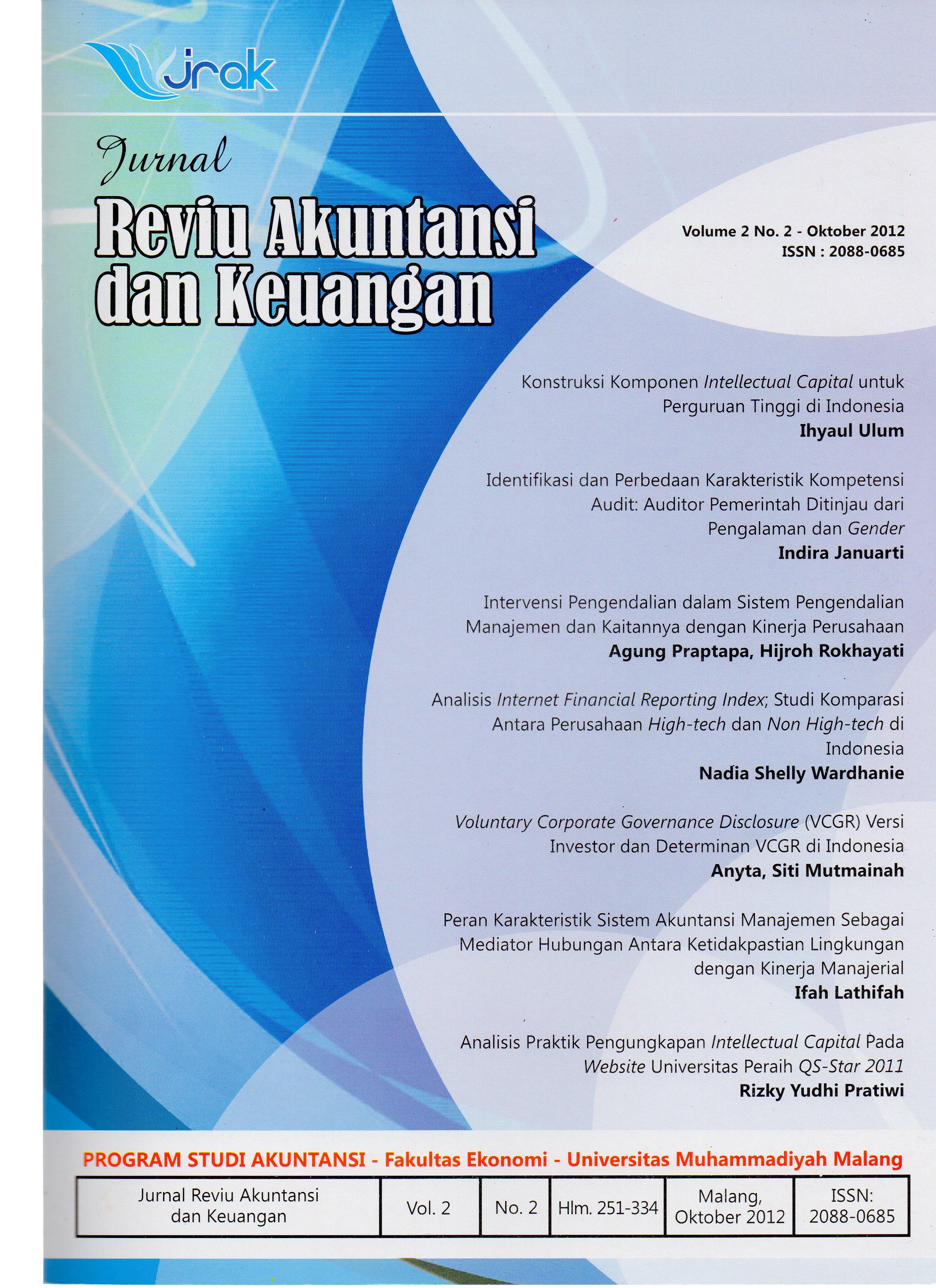 View Vol 2, No 2: Jurnal Reviu Akuntansi dan Keuangan