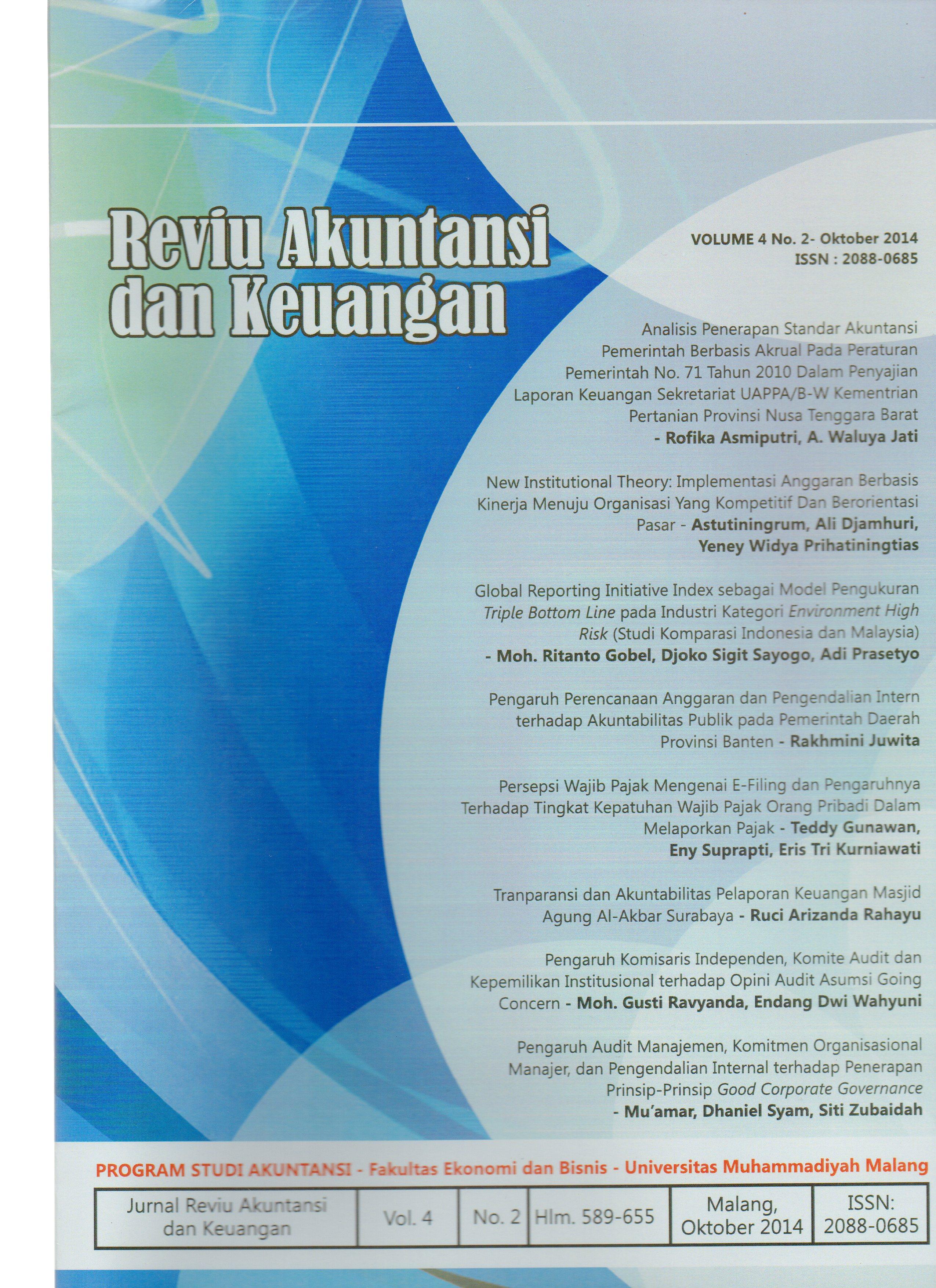 View Vol. 4 No. 2: Jurnal Reviu Akuntansi dan Keuangan