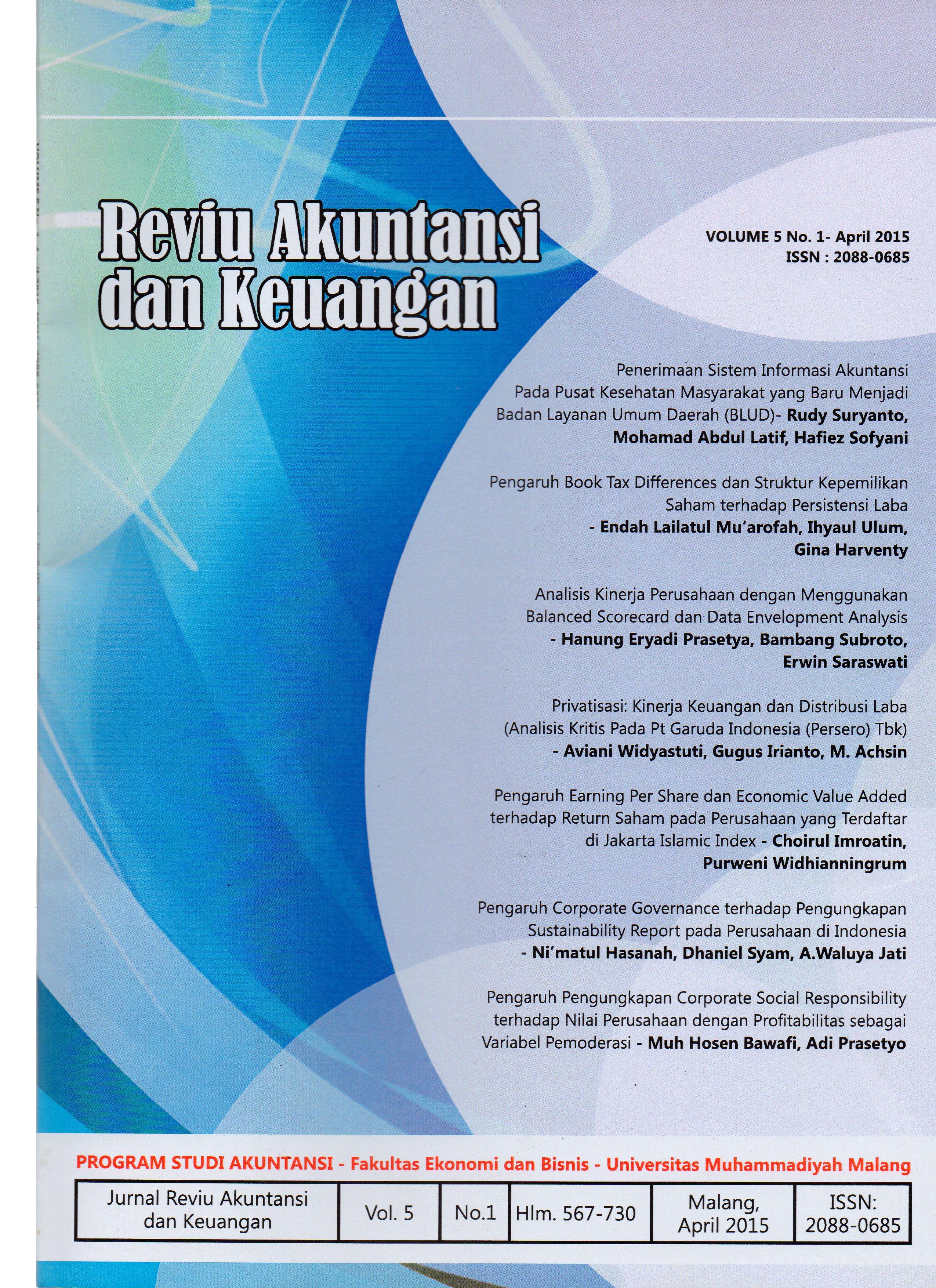 View Vol. 5 No. 1: Jurnal Reviu Akuntansi dan Keuangan