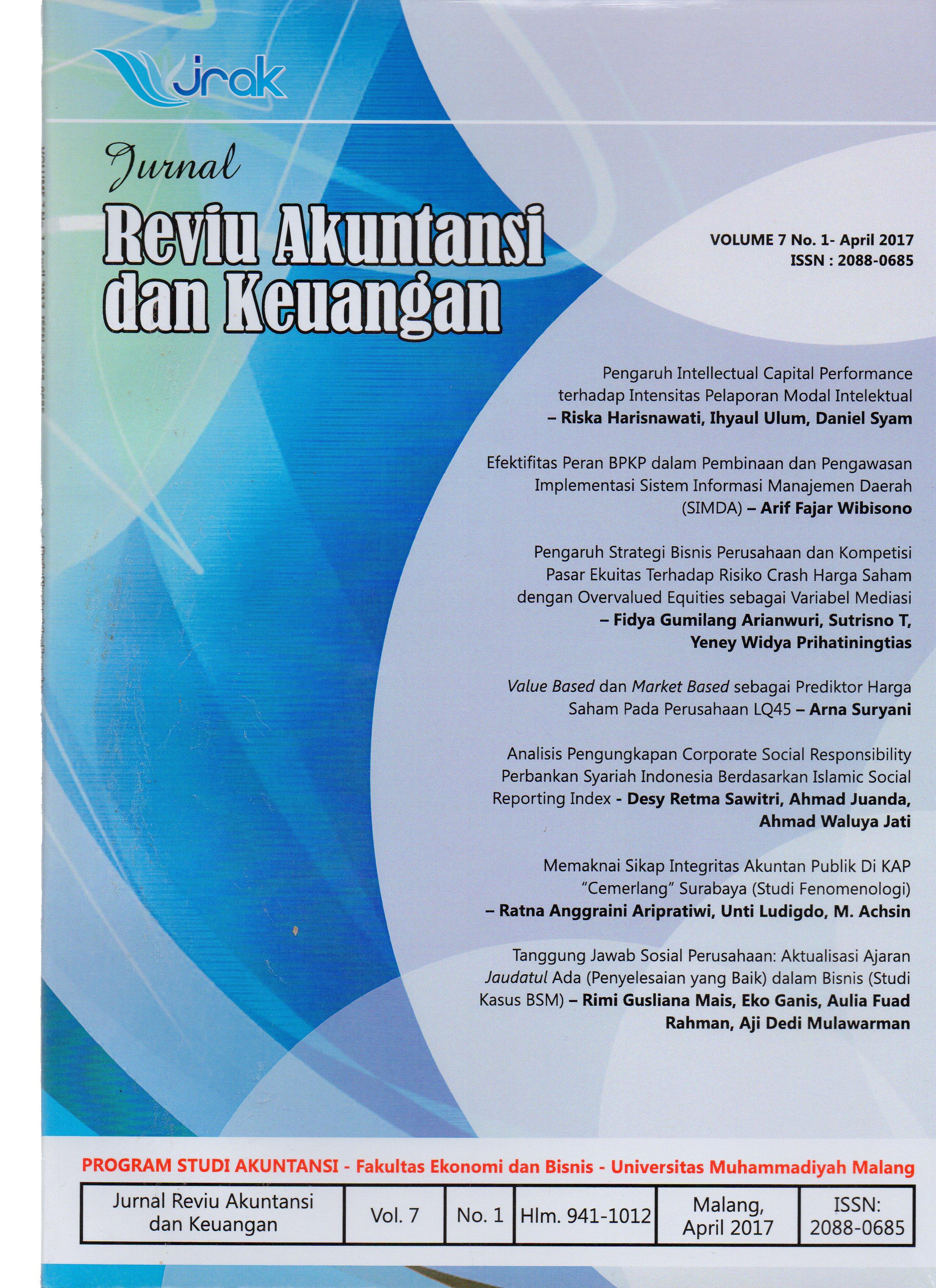 View Vol. 7 No. 1: Jurnal Reviu Akuntansi dan Keuangan