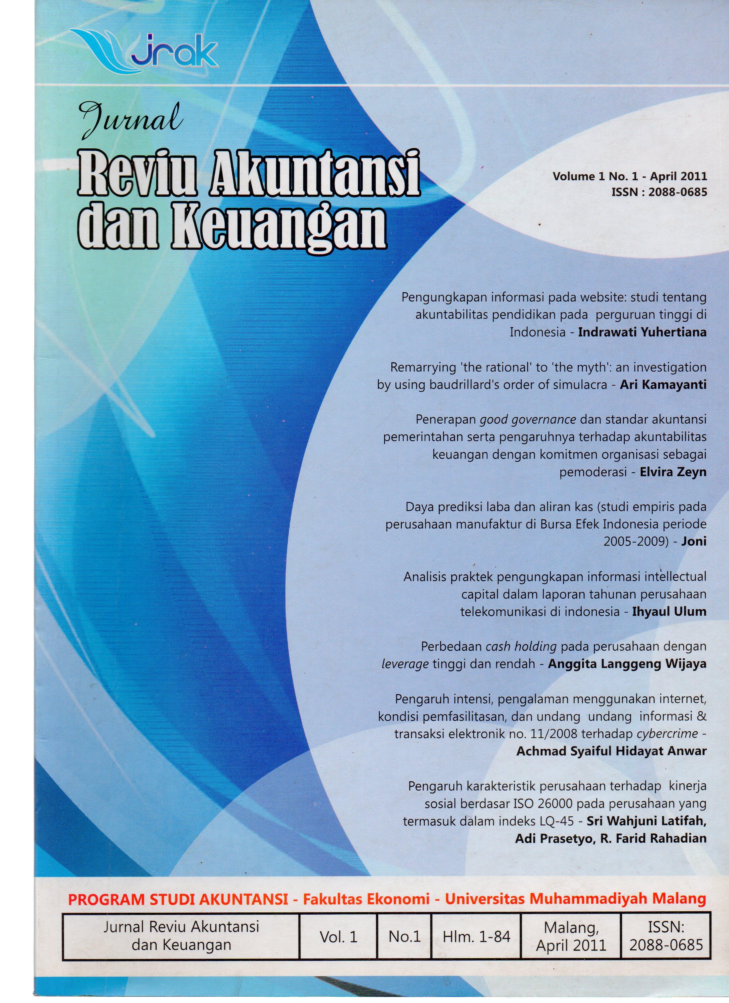 View Vol. 1 No. 1: Jurnal Reviu Akuntansi dan Keuangan