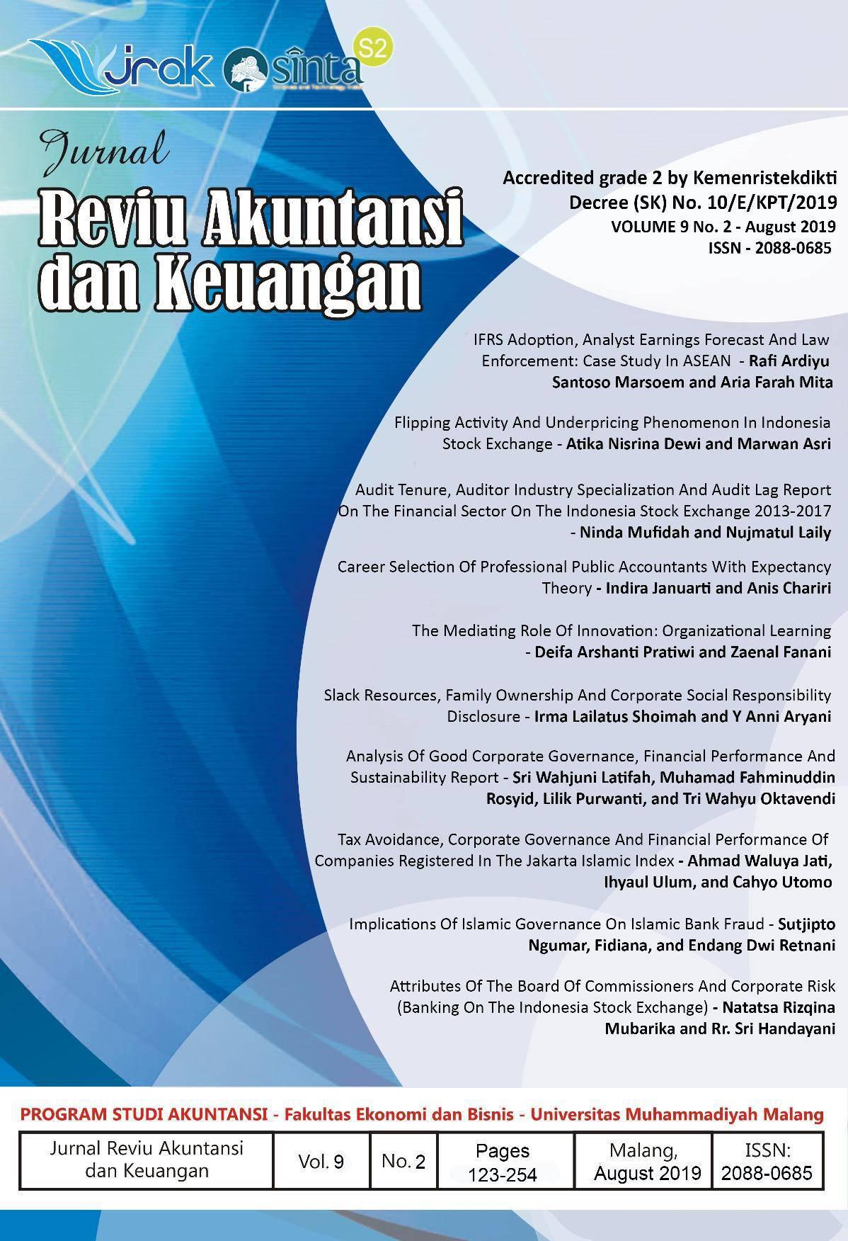 View Vol. 9 No. 2: Jurnal Reviu Akuntansi Dan Keuangan