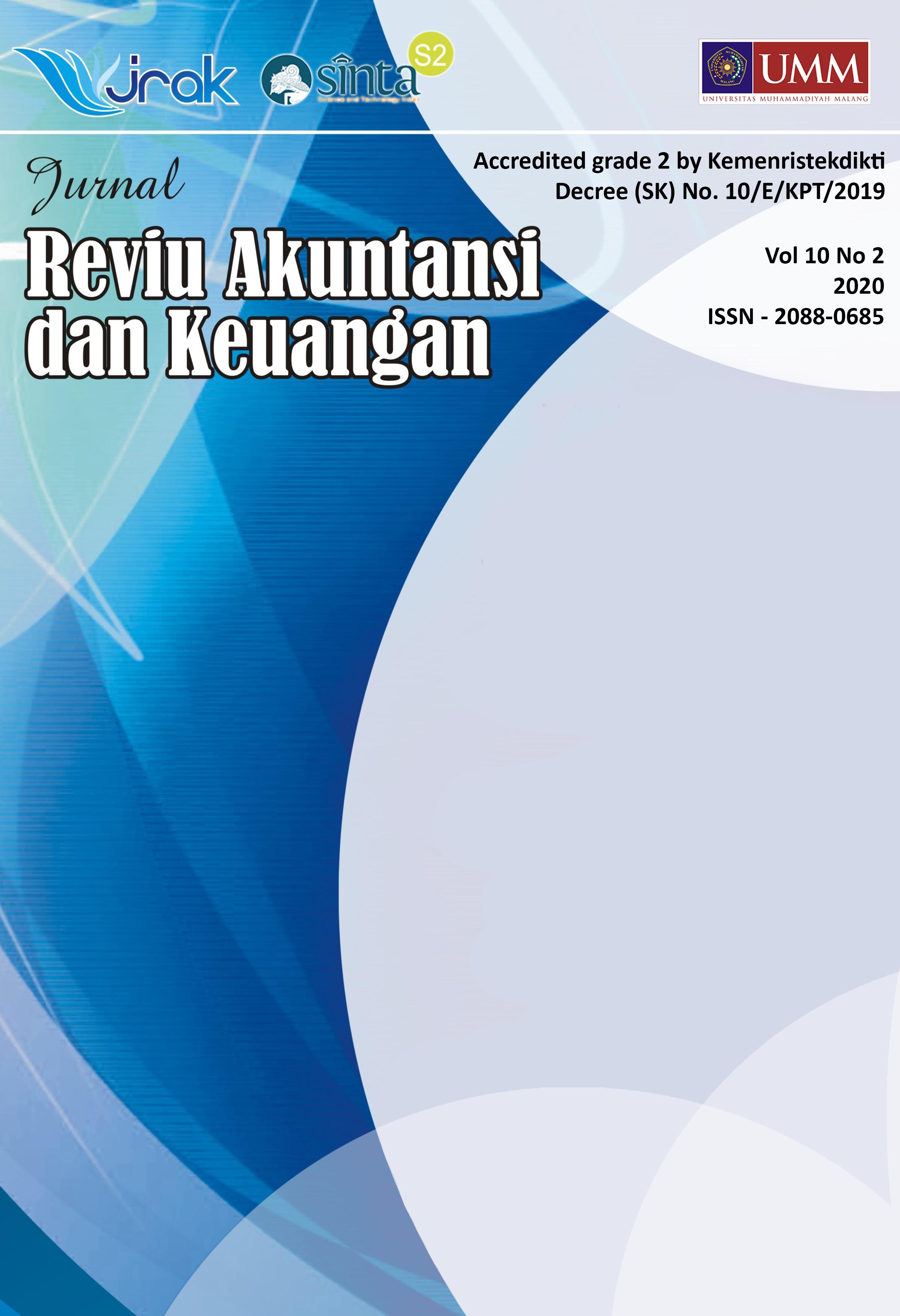 View Vol. 10 No. 2: Jurnal Reviu Akuntansi dan Keuangan