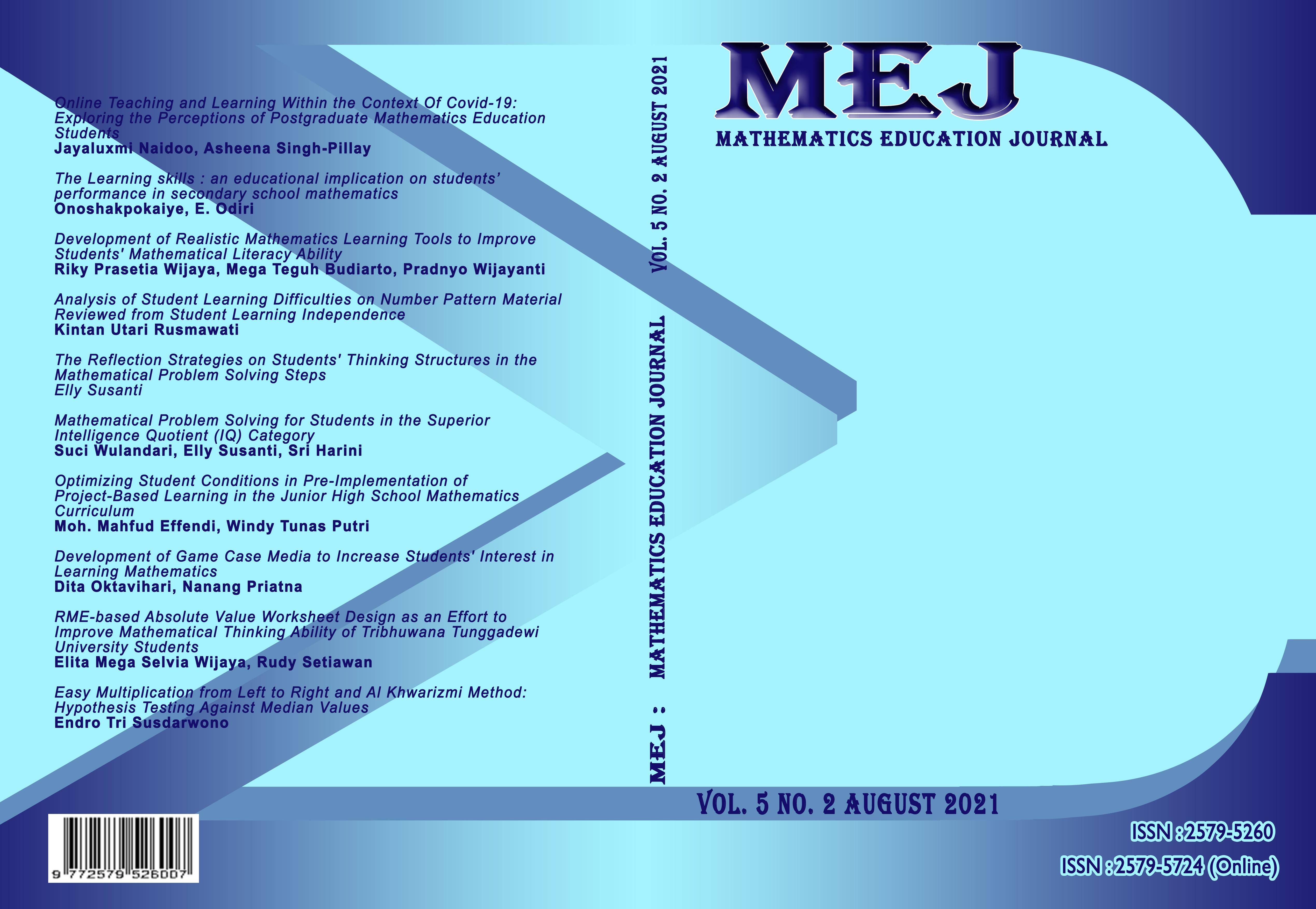 View Vol. 5 No. 2 (2021): MEJ Vol 5 No.2