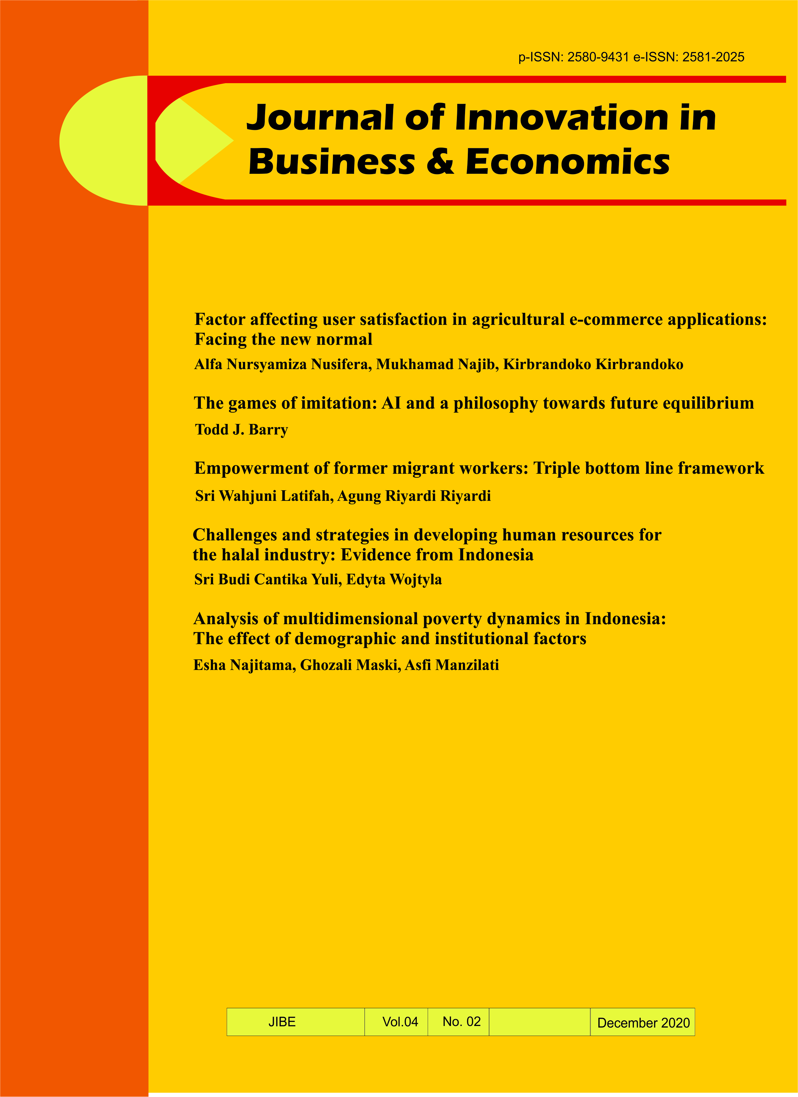 View Vol. 4 No. 02 (2020): Journal of Innovation in Business and Economics