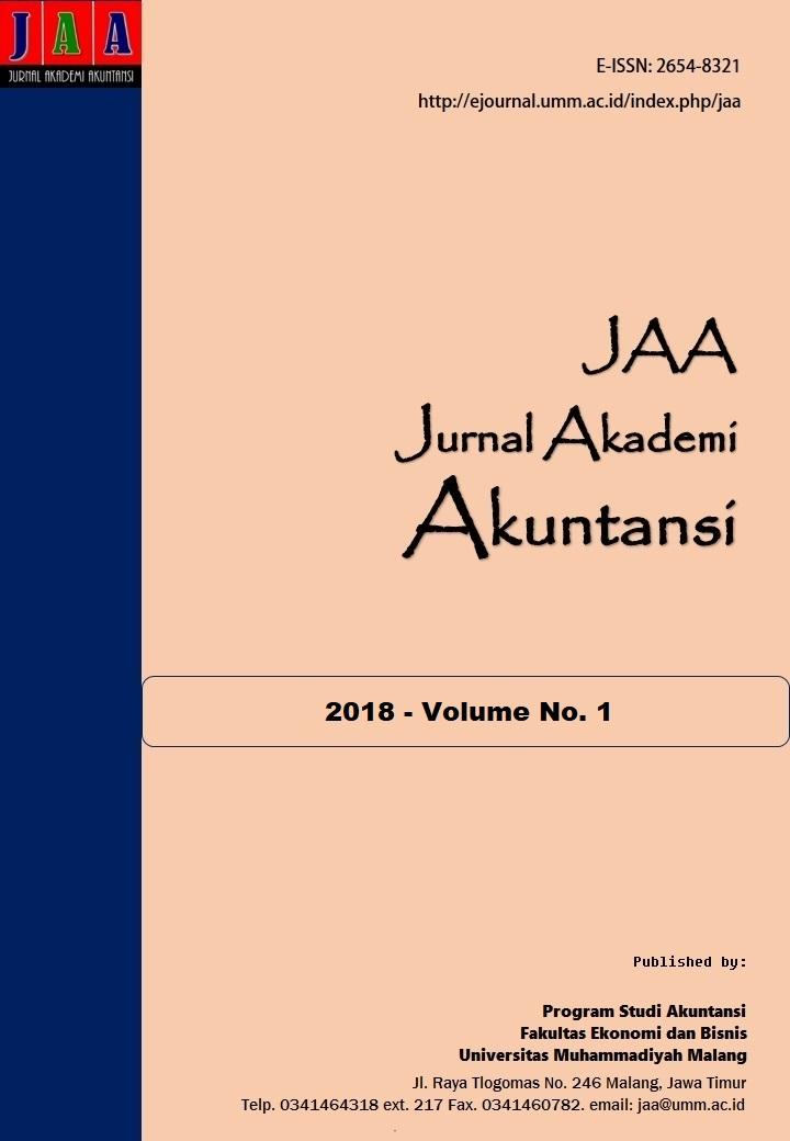 View Vol. 1 No. 1 (2018): Jurnal Akademi Akuntansi (JAA)