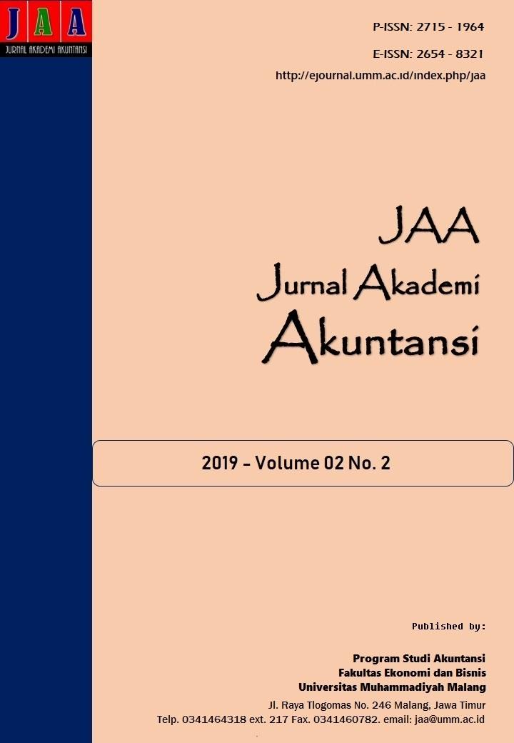 View Vol. 2 No. 2 (2019): Jurnal Akademi Akuntansi (JAA)